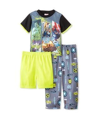 58% OFF Kid's Avengers 3-Piece Pajama Set (Green)