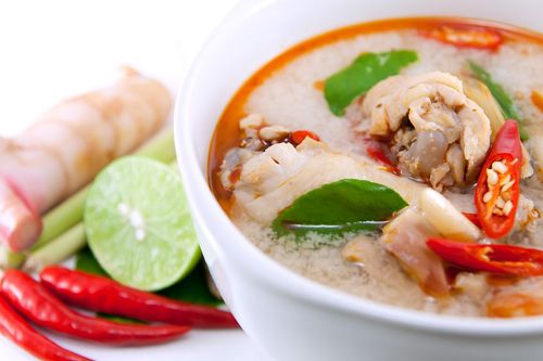 Tom Yum Gai - Classic Thai Cuisine. This recipe doesn't ask for chicken broth and sugar free.