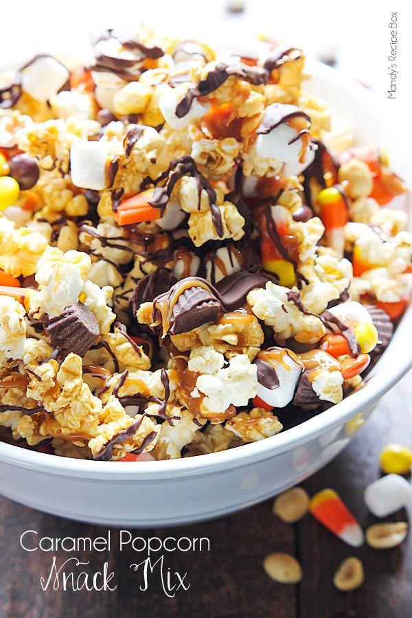Caramel Popcorn Snack Mix RecipesPopcorn