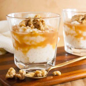 Heute gibt es mal wieder ein Dessert im Glas: traditioneller Milchreis mit einer…