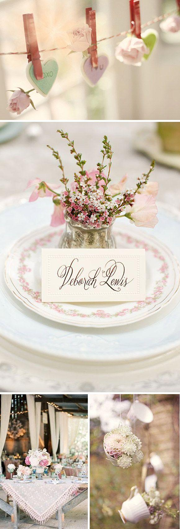 Inspiración para una boda muy romántica en colores pasteles