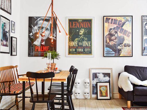 Quem curte decor com pôster levanta a mão! \o/ Além de serem estilosos e descolados, os pôsteres são a forma mais econômica de dar um tapa na parede sem graça.