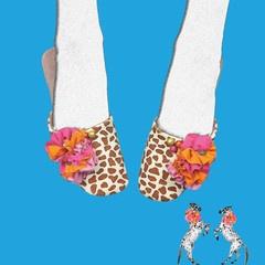 Stasia Spring Blush Slippers- Artwork