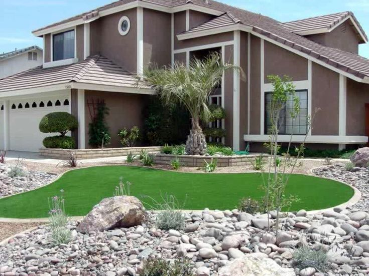 Artificial Grass Carpet Charco, Arizona Home And Garden, Front Yard Landscape Ideas
