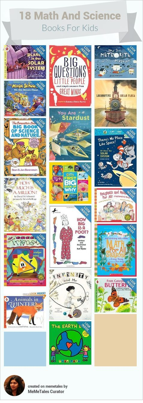 Children's books about Math and Science, to inspire your little scientists and mathematicians.