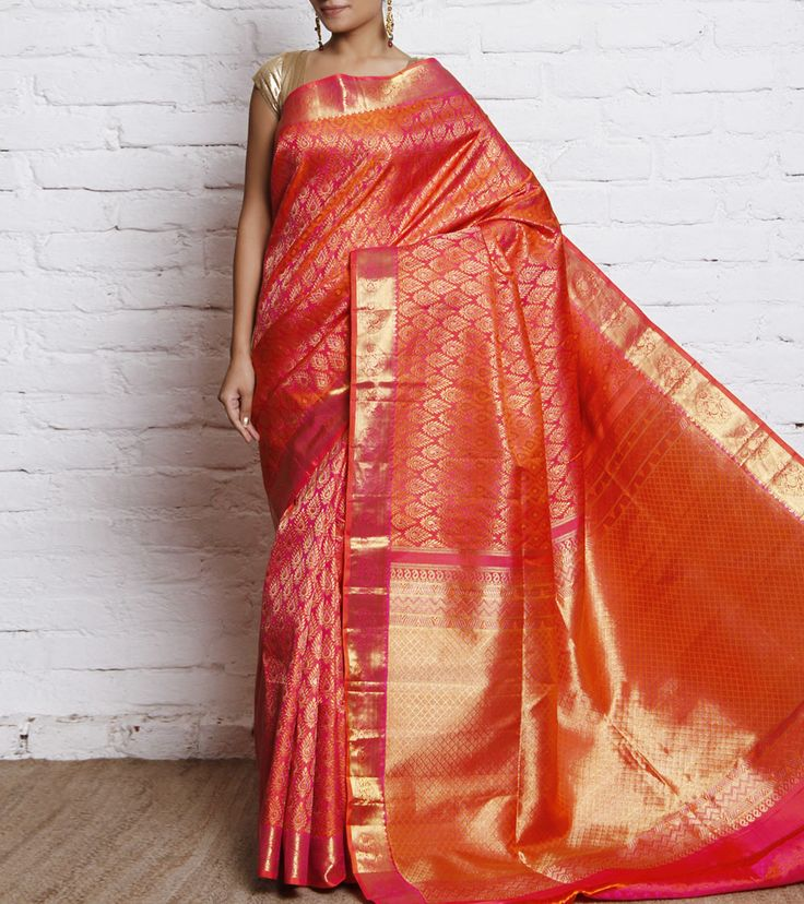 kanjivaram silk saree#indian roots