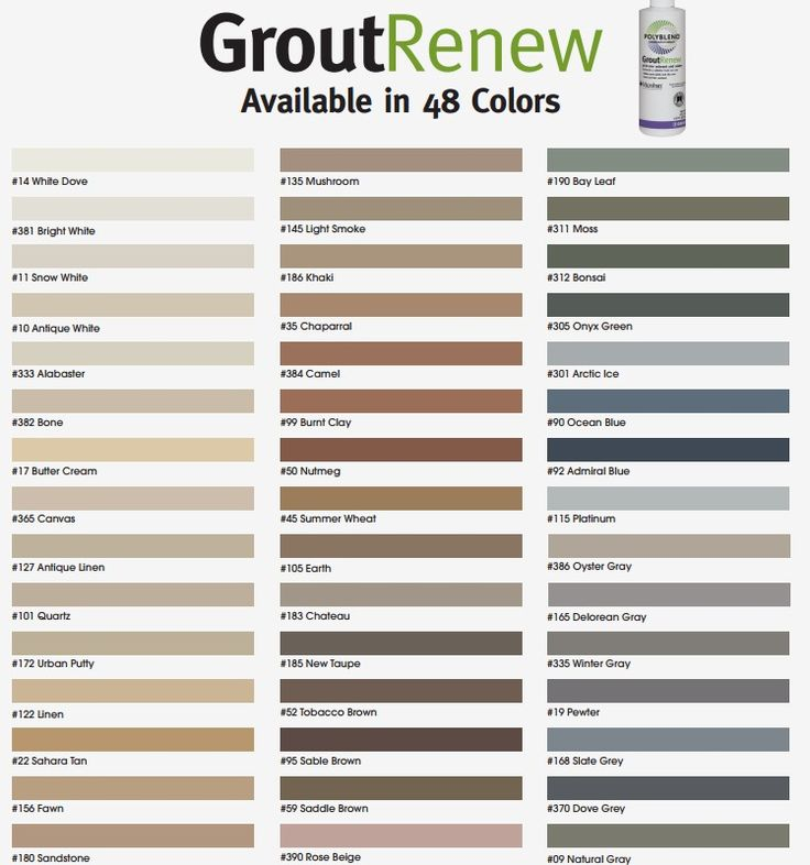 grout renew colors