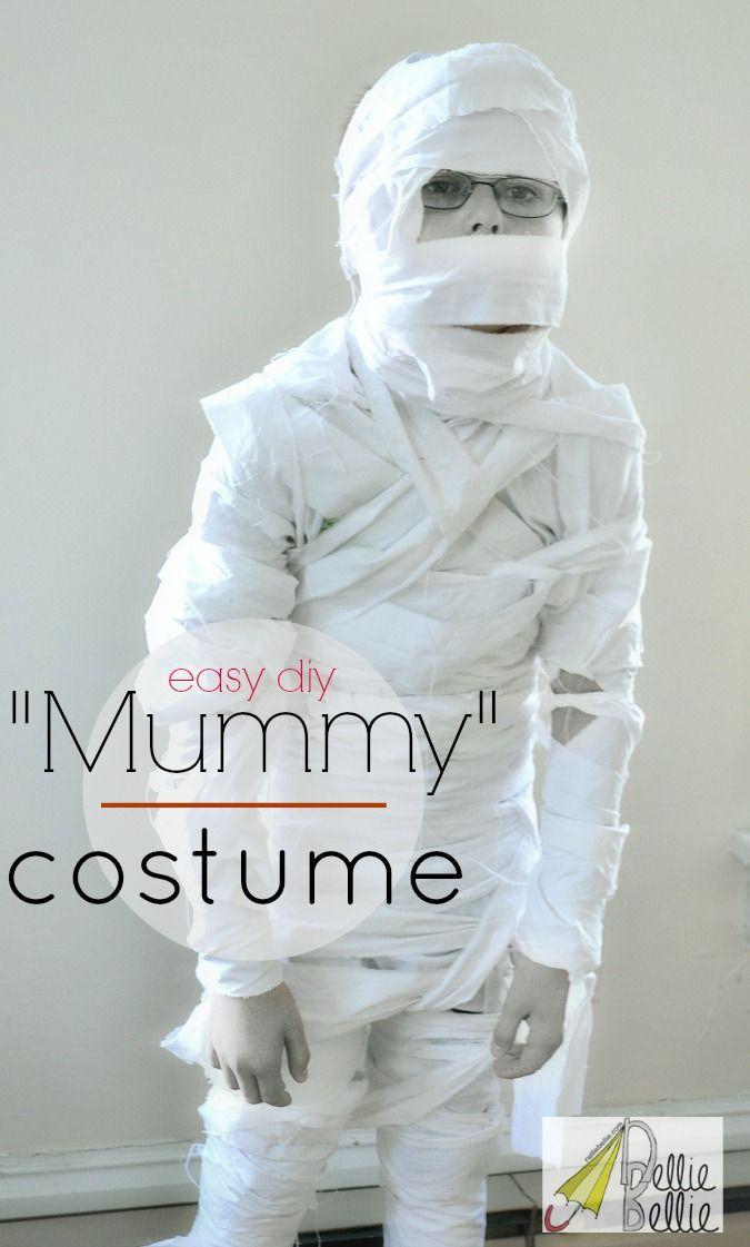 handmade halloween mummy costume tutorial from NellieBellie; simple, easy, and tons of fun!  #mummy #halloween #costume
