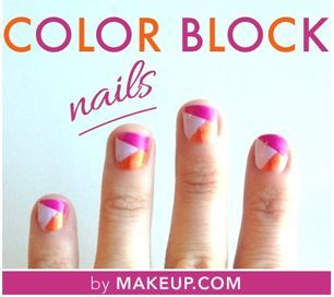 Spring nails tutorial / Drooling over this chic color block manicure #Creative Nails  http://creativenailsideasayla.blogspot.com