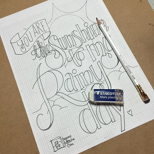 A little rainy day lettering practice use the #letteritapril prompt. #lettering…