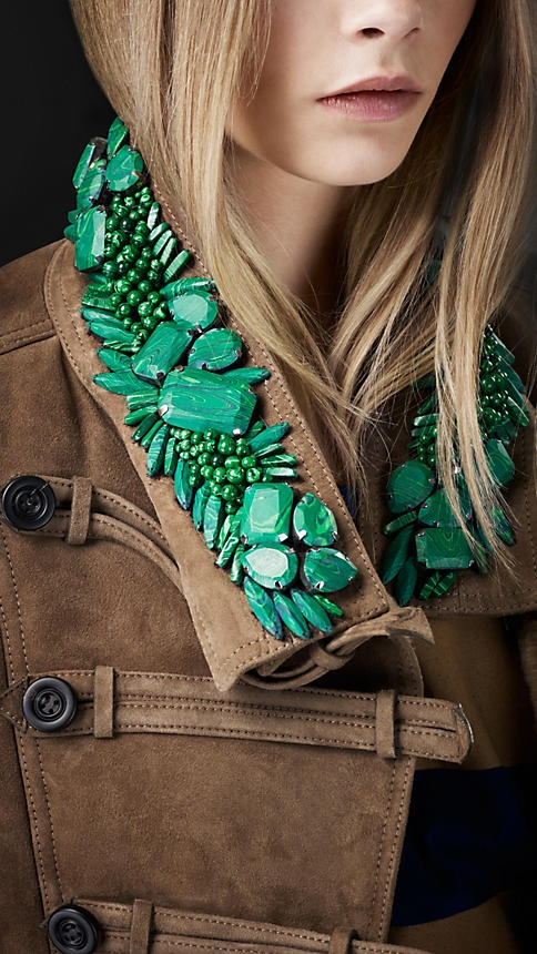 Bead Embroidery Military Jacket | Burberry