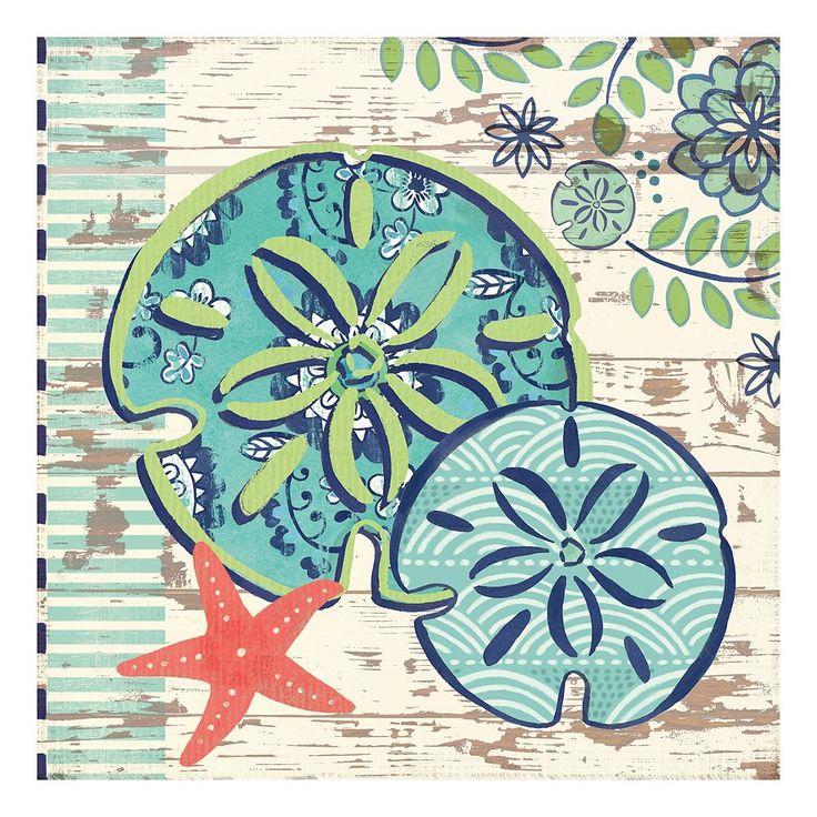 Oceania Sand Dollars Canvas Wall Art, Multicolor