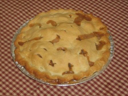 Our famous double-crust apple pie.