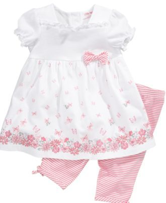 Little Me Baby Set, Baby Girls Butterfly Tunic and Leggings - Kids Baby Girl (0-24 months) - Macy's