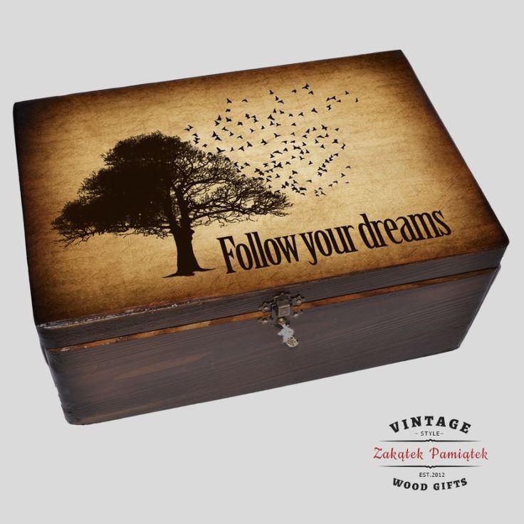 #pudełkowspomnień #prezent kuferek na marzenia