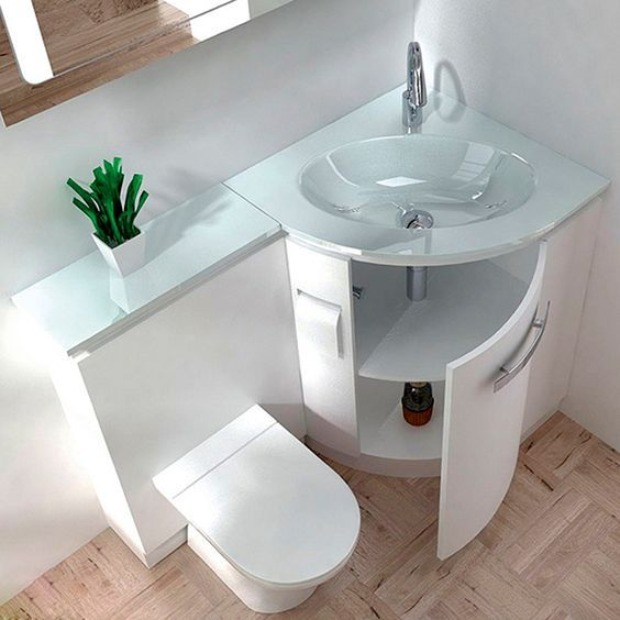 25 best ideas about toilet and sink unit on pinterest for Space saving bathroom layouts