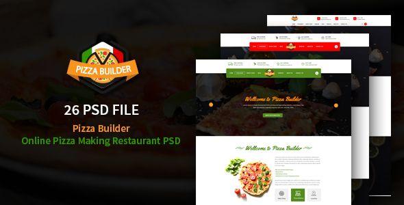 Pizza Builder- Online Pizza Making Restaurant PSD - Restaurants & Cafes Entertainment Download here : https://themeforest.net/item/pizza-builder-online-pizza-making-restaurant-psd/19232158?s_rank=177&ref=Al-fatih