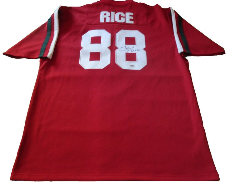Jerry Rice signed Mississippi Valley State University (MVSU) throwback football jersey w/ PSA/DNA authentication.  Free USPS shipping. www.AutographedwithProof.com is your one stop for autographed collectibles from Oakland Raiders & NFL teams. Check back with us often, as we are always obtaining new items.