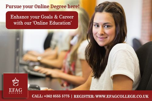 Augment your #education for a better career! Top Online learning college - Check here for available courses - http://efagcollege.co.uk/programs