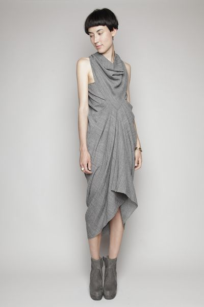 Totokaelo - Rick Owens - Dessee Wrap Tunic - Black Sample