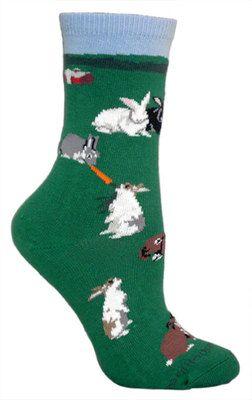 Bunny farm hunter green socks