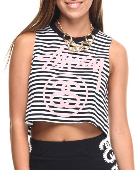 Stussy - CROPPED MUSCLE TEE