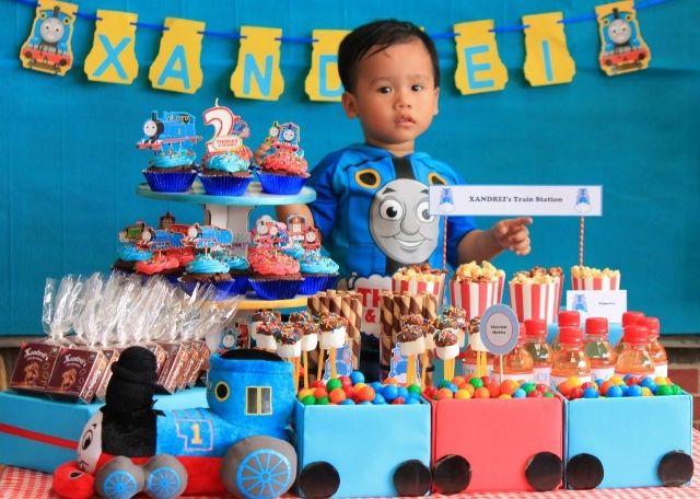 Thomas the train party birthday party ideas candy train for 2nd birthday party decoration ideas
