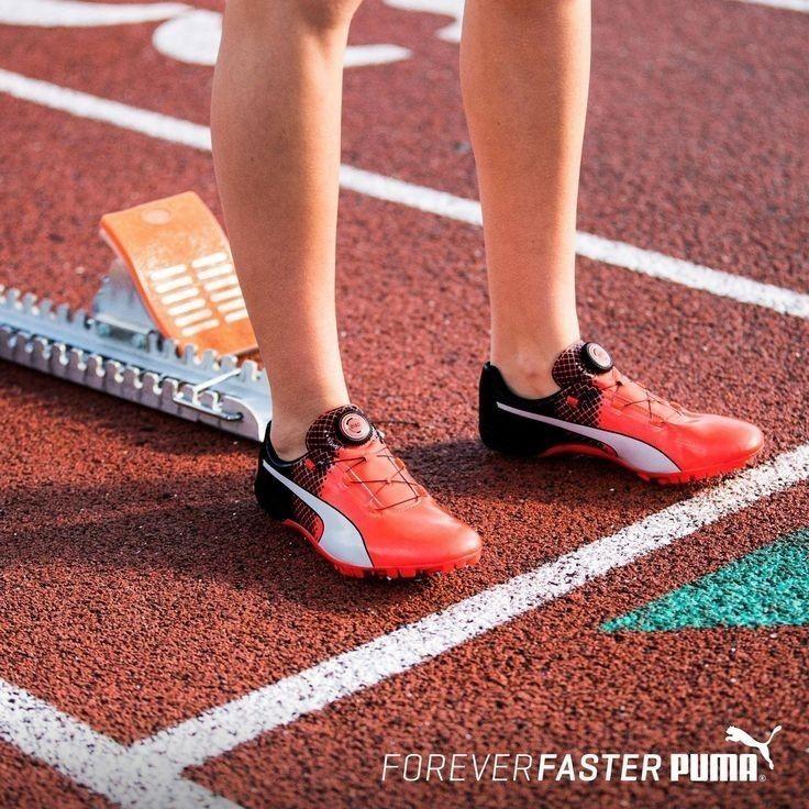 47fdccc8248 Puma evoSPEED Disc v2 Unisex Red Black Sprint Track Field Shoes Spikes