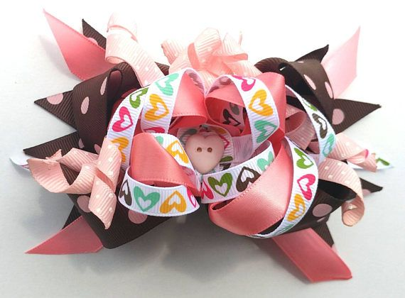 Check out this item in my Etsy shop hearts and curls big bow out stacked boutique bow for sale on etsy https://www.etsy.com/listing/534183985/ott-stacked-boutique-hairbow-55-x-4
