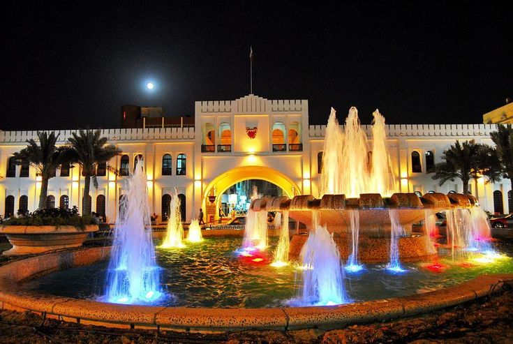 #Babalbahrain #click #muharraq #manama #Beautiful #Waterfall #bahrain #night