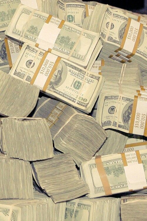 I want to be able to have stacks of money like this for my family and I