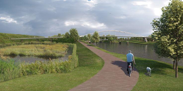 Tenderontwerp voor een fietsbrug over het Wilhelminakanaa,l i.o.v. Colijn aannemingsbedrijf en Rasenberg Wegenbouw (2011)