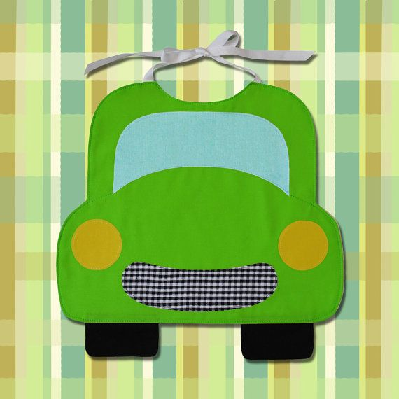CAR Toddler Bib PDF Pattern by SewTuti on Etsy
