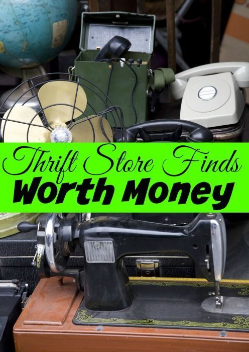 Don't Pass These Thrift Store Finds Worth Money! - Did you know you can Make Money from shopping at Thrift Stores? It's true! These items you do NOT want to pass up!