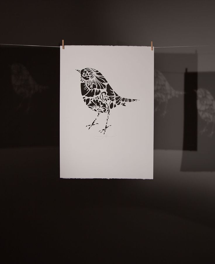 ROBIN IN THE CUT | Hand Cut: $250 350mm x 500mm (small) $350 500mm x 700mm (large) Open Edition | Flox.co.nz