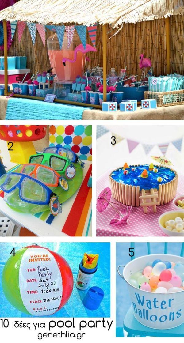 10 Pool Party Ideas By Sabrina Zakiya S Beach Baby