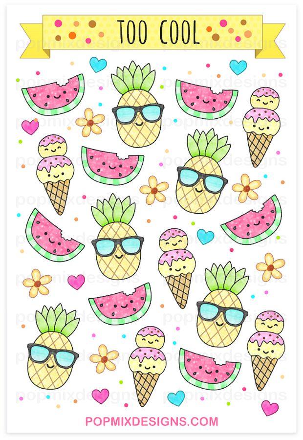 http://popmixdesigns.com/item/pineapple-watermelon-stickers