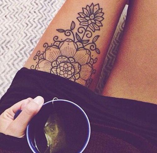 Mandala henna inspired tattoo. One of my favourites