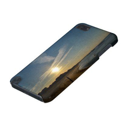 Textured Sunset by Shirley Taylor iPod Touch (5th Generation) Cover -nature diy customize sprecial design