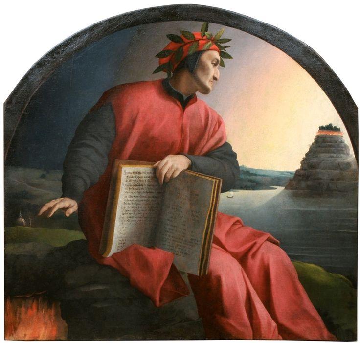 Allegorical portrait of Dante Alighieri by Bronzino in view in the ...