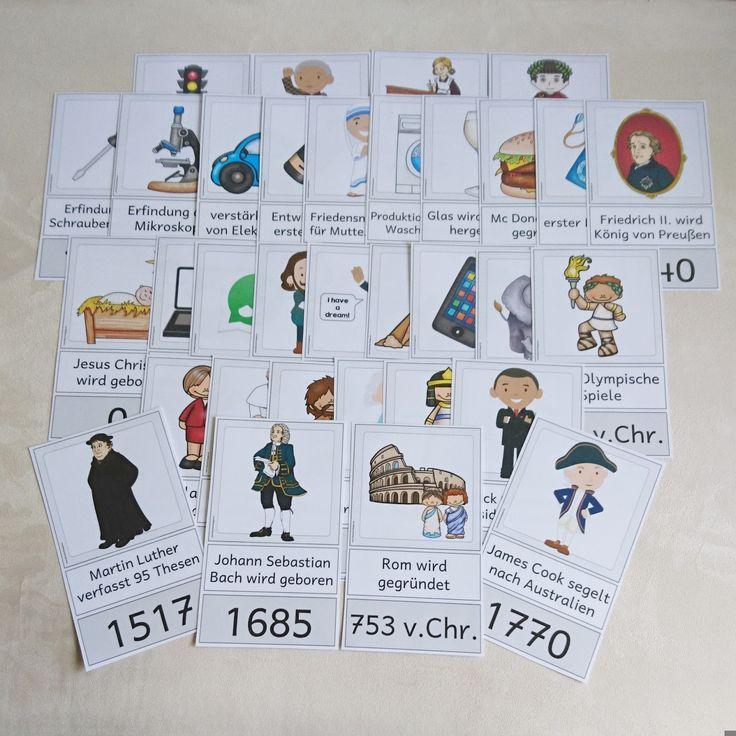 Weitere Karten für eine Zeitleiste Ich freue mich, dass euch die letzten Karten für die Zeitleiste so gut gefallen haben! Mir hat das Ers...