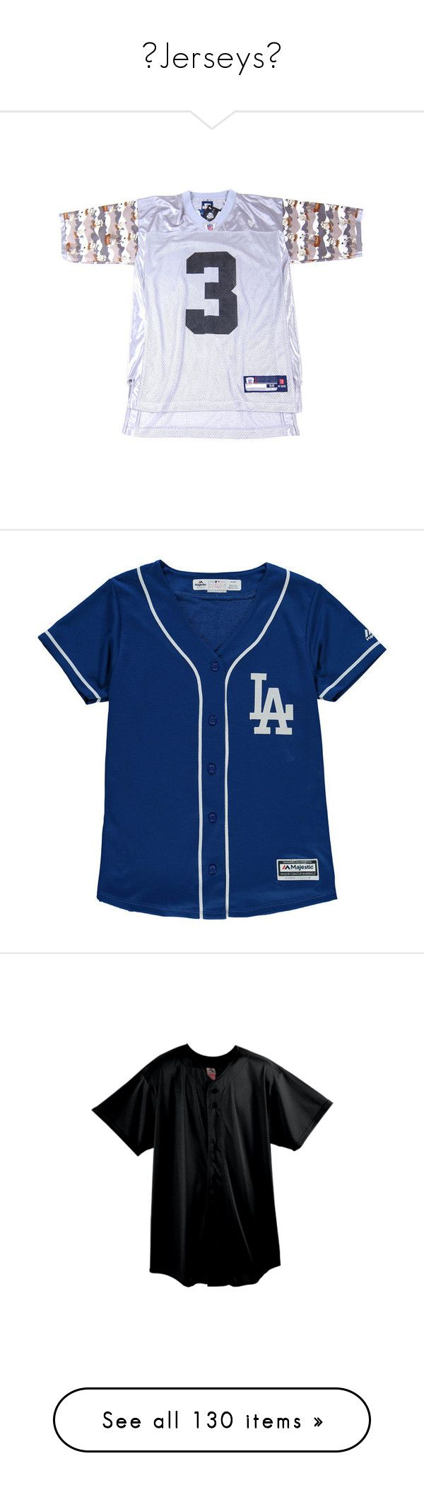 """🔱Jerseys🔱"" by gamergirl247 ❤ liked on Polyvore featuring tops, jersey top, shirts, blue dodgers jersey, los angeles dodgers jersey, blue jersey, blue top, mlb jerseys, men's fashion and men's clothing"