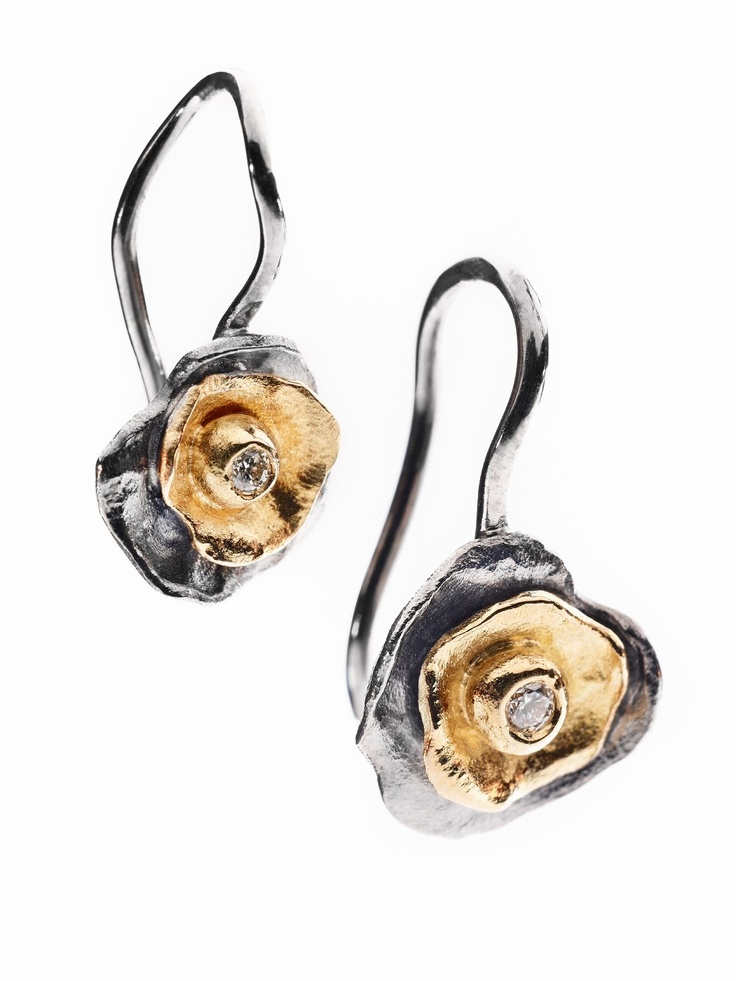 """""""Flakes""""earrings -  pretty pieces for your ears. Milas jewellery. #milas øreringe"""
