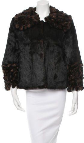 Fur Fringe-Trimmed Jacket w/ Tags