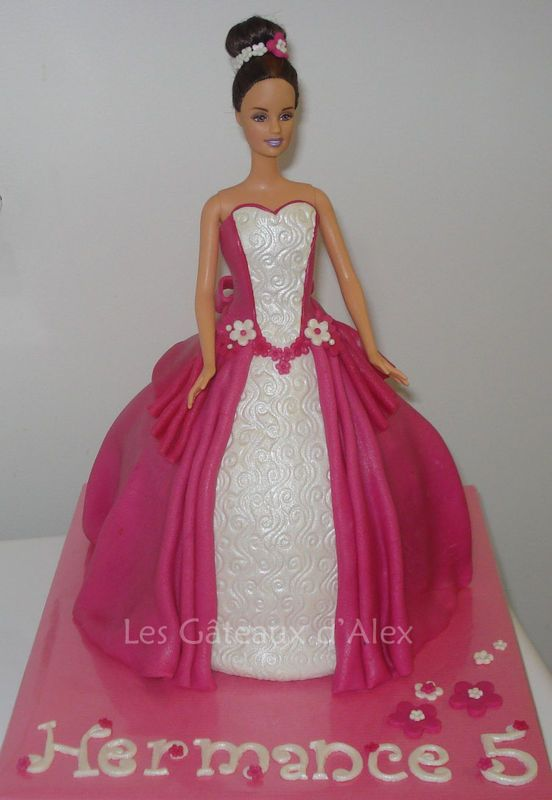 deco gateau barbie