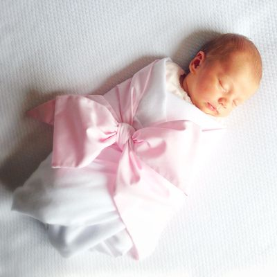 Beaufort Bonnet Company - Pink Bow Swaddle - SOUTHERN LIVING'S 7 Reasons Why Southern Babies Have It Best
