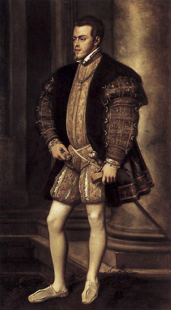 Tiziano Vecellio. Felipe II. 1554. Galería Palatina. Palacio Pitti. Florencia.