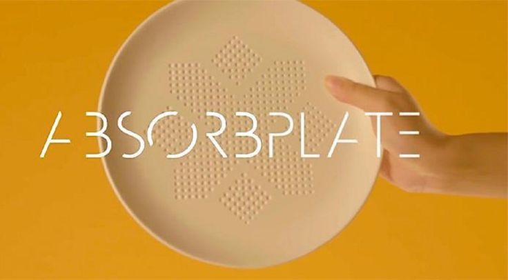 AbsorbPlate - zobaczcie talerz, który pomoże Wam w odchudzaniu. Zobacz więcej na ExuMagazine: http://exumag.com/absorbplate/
