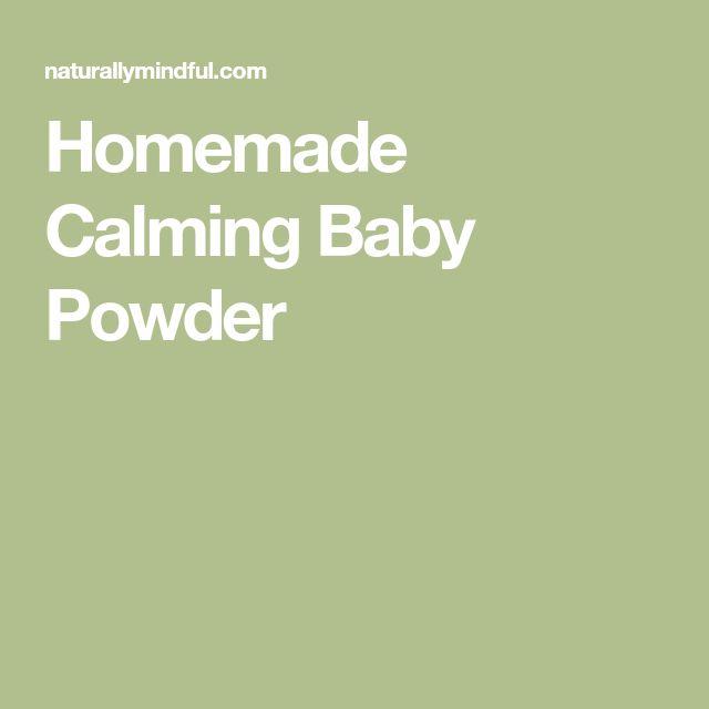 Homemade Calming Baby Powder