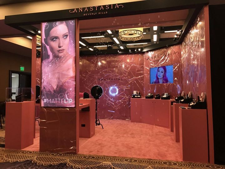The Anastasia Beverly Hills Salon Booth at The SEPHORA convention in Las Vegas was beautiful. #EventProduction #LasVegas #AnastasiaBeverlyHills #TradeShow #1540Productions - http://ift.tt/1HQJd81